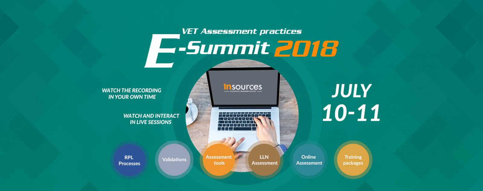 Insources - VET Assessment practices E-summit 2018